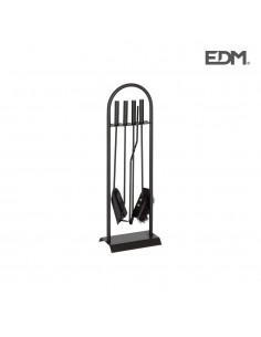 Kit de chimenea negro 4 piezas - edm