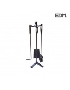 Kit de chimenea negro 3 piezas - edm