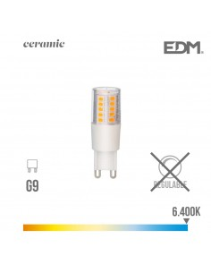 Bombilla led g-9 5.5w 6400k 230v 650lumens con base ceramica  edm