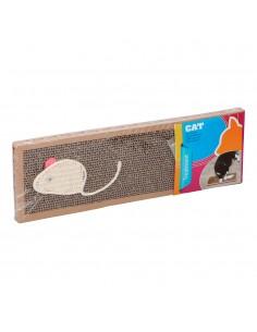 Carton rascador para gatos con hierba gatera