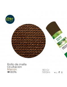 Malla plegable marron 80% 90g 1x10mts