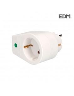Clavija adaptadora con protección termica  retractilada edm