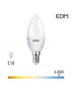 Bombilla vela led - smd - e14 - 5w - 400 lumens - 6400k - luz fria -  edm