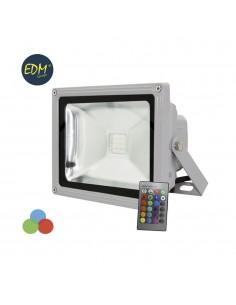 Proyector led ip65 30w rgb (multicolor) 1900 lumens edm