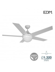 Ventilador techo modelo adriatico blanco/cromo ø132cm 120m3/min edm