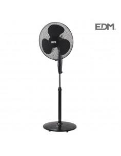 "Ventilador de pie negro ø40cm 45w ""black series"" edm"
