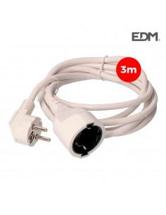 Prolongacion manguera 3x1,5 t/tl 3mts blanca edm