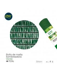 Malla plegable verde 70% 3x4m
