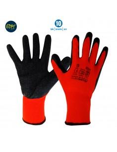 Guante soporte polyester y recubrimiento de latex talla 10