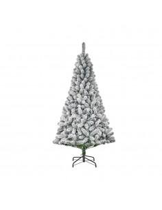 Arbol de navidad efecto escarcha con 600 ramas 215x119cm