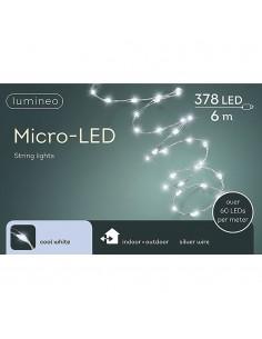 Guirnalda micro led extra brillante exterior blanco frio 600cm-378l