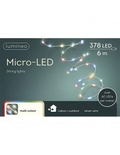 Guirnalda micro led extra brillante exterior multicolor 600cm-378l