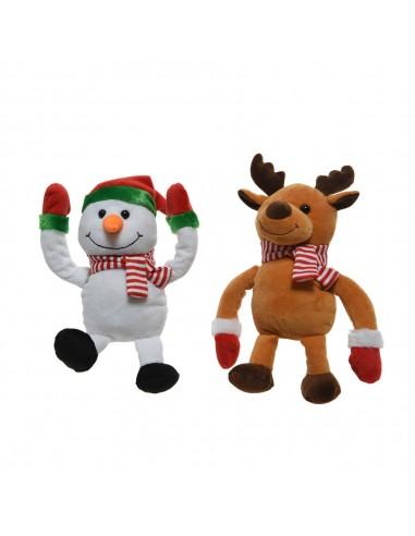Muñeco navideño volteretas 2 modelos surtidos