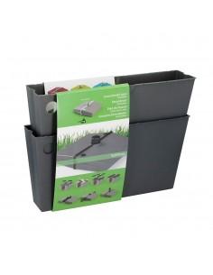 Base para parasol plegable gris