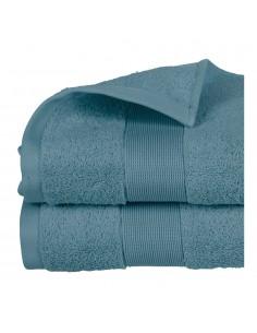 Toalla de rizo 450g color azul abeto 100x150