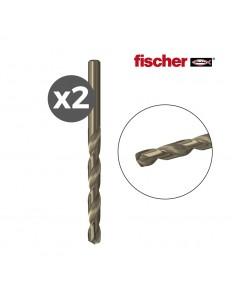 Pack 2 brocas  metal hss-co 3,0x33/61 / 2k  fischer