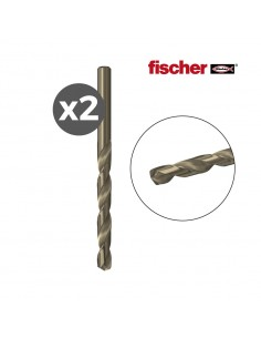 Pack 2 brocas  metal hss-co 4,0x43/75 / 2k  fischer