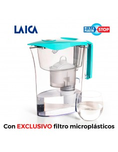Jarra microplasticos + 3 filtros biflux + 1 filtro mikroplastik-stop laica