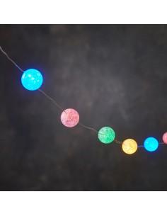Guirnalda de bolas multicolor 30 leds 300cm