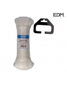 Madeja trenzado nylon 25m blanco granate