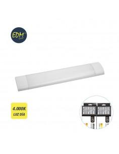 Regleta electronica led 25w 61cm 4.000k luz dia 2200 lumens edm