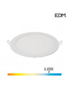 Downlight led empotrable 20w luz fria 6.400k 1500 lumens blanco edm
