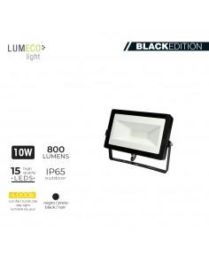 "Foco proyector led  10w 4000k 800 lumens ""black edition"" lumeco"