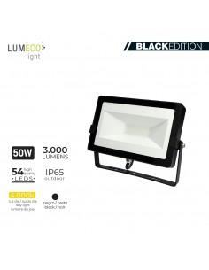 "Foco proyector led  50w 4000k 3000 lumen ""black edition"" lumeco"