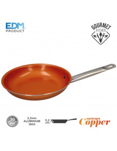 "Sarten antiadherente - ""copper line"" - excilon tecnology - ø30cm - edm"