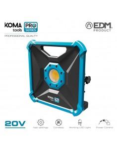 Foco proyector led 20w 1.800 lumen 20v (sin bateria y cargador)  koma tools pro series battery edm