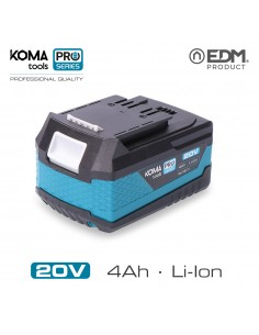 Bateria litio 20v 4.0ah koma tools pro series battery edm