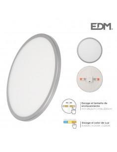 Downlight led marco cromo mate 20w regul. tamaño emp. y tipo luz edm