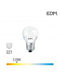 Bombilla esferica led - e27 - 5w - 400 lumens - 3200k - luz calida - edm