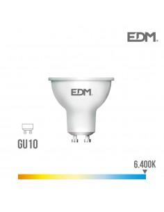 Bombilla dicroica gu10 smd led 5w 450 lumens luz fria 6.400k apertura 120º   edm