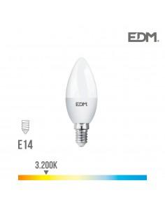 Bombilla vela led - smd - e14 - 5w - 400 lumens - 3200k - luz calida -  edm
