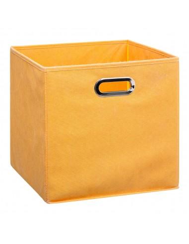 Caja organizadora 31x31cm color mostaza