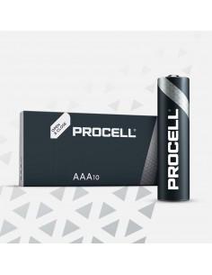 Pila alkalina lr03 duracell procell (retractil 10 unid.)