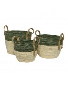 Pack 3 cestas con asa