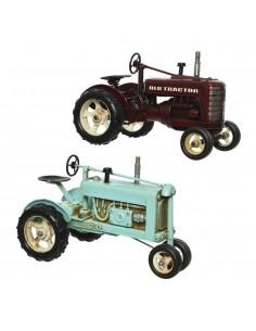 Tractor metalico decorativo 16x16,5x25cm modelos surtidos