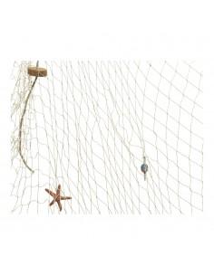 Red pesca decorativa con elementos decorativos 150x200cm