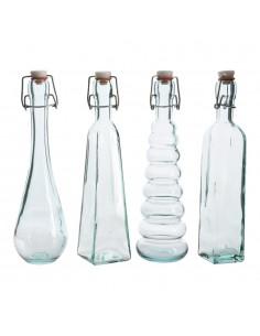 Botella clasica 350ml con tapon 7x28cm modelos varios