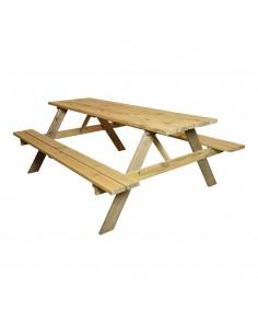Mesa de picnic de madera 200x128cm  madera fsc