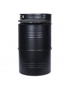 Barbacoa barril 36x62cm negra