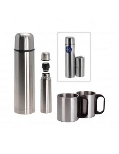 Set termo 1 litros con 2 tazas inox