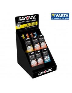 Expositor sobremesa pilas audifono rayovac 360 pilas varias