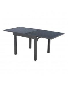 Mesa extensible para exterior aluminio 8 plazas color grafito mod.ligne piazza