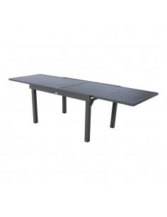 Mesa extensible para exterior aluminio 10 plazas color grafito mod.ligne piazza