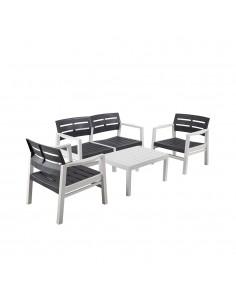 Conjunto de salon para interior y exterior hecho con materiales reciclados bicolor (uso domestico) disponible aprox 01- 03-2020