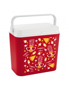 Nevera modelo summer vibes red 24l f1