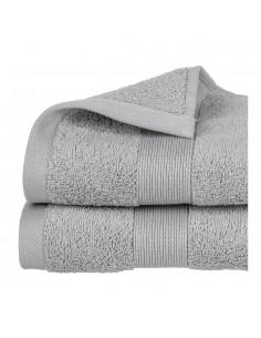 Toalla de rizo 450g color gris 50x90